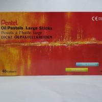 Crayon Pentel 48 Merah / Oil Pastels Large Sticks