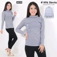 Harga blouse kaos wanita salur stripe lengan panjang | antitipu.com