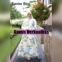 Baju Gamis Muslim Syari white