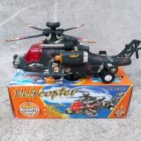 Helikopter Bump n Go Mainan Anak Heli Edukatif Militer Apache Baterai