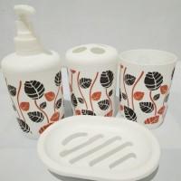 Home Cube Aspire 4 Piece Plastic Bath Accessory Bathroom Set