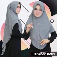 Jilbab Hijab Kerudung Instan Syari Khimar Ceruti Swarovski Della Oval