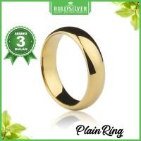 Promo Gold Plain Ring Terbaru
