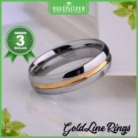 Promo Cincin Kawin Platinum Single Line Ring Terbaru