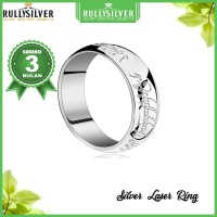 Promo Cincin Kawin Silver Laser Ring