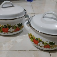 mini set panci enamel 12 & 14 cm - panci susu
