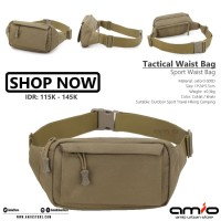 👨 Tactical Waist Bag Army   Waterproof Cordura Nylon