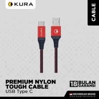 KURA Premium Nylon Tough Cable - Kabel Data USB Type C