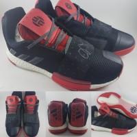 c723f4bb36603 Sepatu Basket Adidas James Harden XIII Volume 3 Low Black Red Hitam