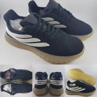 89174d3e71200 Sepatu Kets Adidas Sobakov Black White Gumsole Hitam Putih