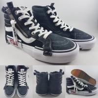 db1954e3cc04c Sepatu Kets Vans Vault SK8High OG Cut and Paste LX BLack White Hitam
