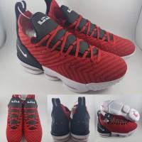 84f4cc2828bce Sepatu Basket Nike Lebron 16 XVI Low University Red Black Merah Hitam