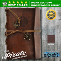 Buku Catatan Binder Note Classic Retro Pirate Ship Leather