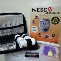 PROMO Nesco MultiCheck 3in1 Alat Cek Gula Darah,Kolesterol,Asam Urat