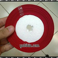 1 Roll Pita Grossgrain 5cm Merah