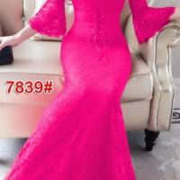Dress Panjang Import/ Maxi Dress Import- 7839 - Biru