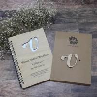 Buku kayu nama A5 refillable l refill wooden notes A5 l Notebook nama