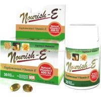 Nourish-E Supplementasi Vitamin E Kulit 400IU Norish E Murah