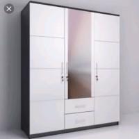 lemari pakaian 3pintu minimalis warna putih