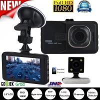 """CCTV kamera Mobil DUAL LENS 3"""" FULL HD 1080P dengan kamera belakang"""