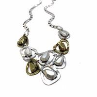 Harga aksesoris kalung etnik wanita besi oval   Pembandingharga.com