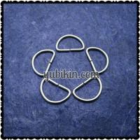 144 Piece Ring D 21mm Besi Silver Nikel Tipis