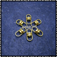 12 Piece Ring 8 Putar Besi 8x18mm Emas Kuning