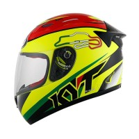 Helm KYT RC Seven 15 Helm Full Face Yellow Fluo Size XL SH709