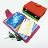 Dompet Kartu, Card Holder, Card Organiser kulit tebal motif Prada