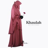 Gamis syari premium polos : Khaulah set