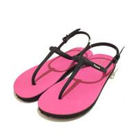 Sandal Fipper Strappy Pink Black