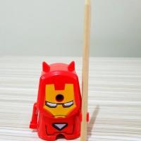 Serutan IRON MAN - Rautan Meja Asahan Putar Pensil Karakter Super Hero