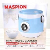 [BIRU] Mini Travel Cooker Maspion MRJ053 / Rice Cooker Kecil MRJ-053