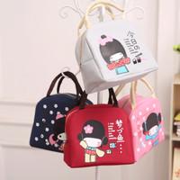 [ Kimono girl - Japanese girl ] Lunch bag cooler bag Tas bekal