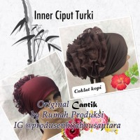 Inner Ciput Turki Brokat Anti Pusing