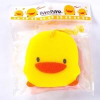 Piyo Piyo Double-Layer Bath Sponge A - Piyo-piyo Sponge Mandi Anak