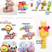 gelang rattle bayi boneka / mainan bayi gelang kerincing