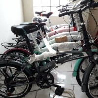 Sepeda lipat 20 odessy shimano 7 speed V Brake / sepeda anak / dewasa