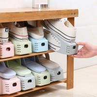 Rak sepatu Hemat tempat penyimpanan Unik 2 Tingkat NEW