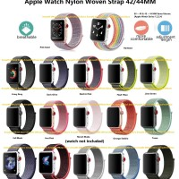 Apple Watch Series 1 2 3 4 Woven Nylon Strap Band Sport UK 42MM = 44MM
