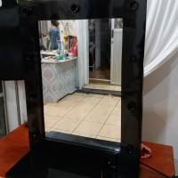 Vanity mirror black termurah se tokped