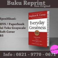 Everyday Greatness - Stephen R. Covey (Buku Import/ Reprint/ Motivasi)