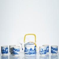 Tea Set Jepang Motif Pedesaan