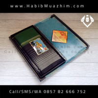Sarung Tenun Wadimor Motif HORIZON / horison Warna Hitam Hijau Botol