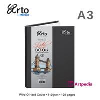 Arto A3 Wire-O Hard Cover Sketch Book 110gsm /Sketch Book ARTO Wire-O
