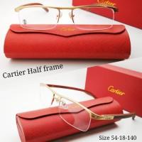 Kacamata Cartier Half frame kayu asli kualitas premium -