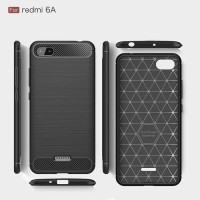 TATA Ipaky Carbon FIBER CASE XIAOMI REDMI 6A SOFTcase Shockproof TPU