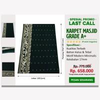 LAST CALL-Karpet Masjid Minimalis Turki Hijau Bintik - SJDLC0028
