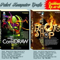 Paket Buku DVD Coreldraw & Adobe Photoshop Indonesia Video Tutorial