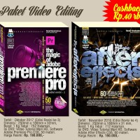 Paket Buku DVD Adobe Premiere Pro & After Effects Tutorial Indonesia